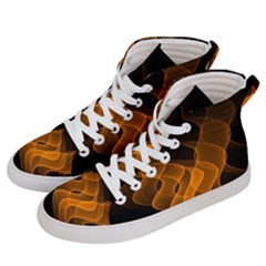 Background Light Glow Abstract Art Men s Hi-top Skate Sneakers by Celenk
