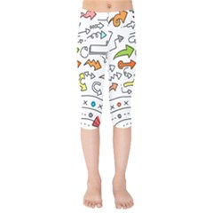 Desktop Pattern Art Graphic Design Kids  Capri Leggings  by Celenk