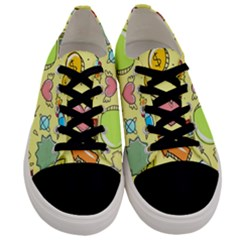 Cute Sketch Child Graphic Funny Men s Low Top Canvas Sneakers