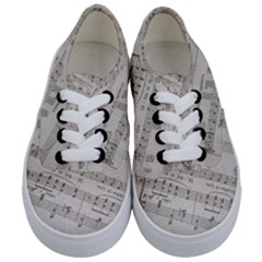 Sheet Music Paper Notes Antique Kids  Classic Low Top Sneakers