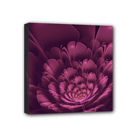 Fractal Blossom Flower Bloom Mini Canvas 4  X 4  by Celenk