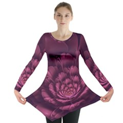 Fractal Blossom Flower Bloom Long Sleeve Tunic