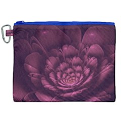 Fractal Blossom Flower Bloom Canvas Cosmetic Bag (xxl)