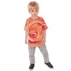 Rose Orange Rose Blossom Bloom Kids Raglan Tee