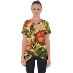 Vintage Flowers Floral Cut Out Side Drop Tee