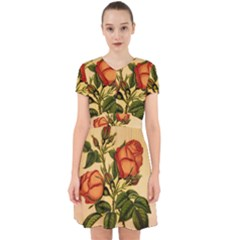 Vintage Flowers Floral Adorable In Chiffon Dress