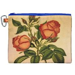 Vintage Flowers Floral Canvas Cosmetic Bag (xxl)