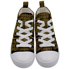 Beautiful Stars Would Be In Gold Frames Kid s Mid Top Canvas Sneakers