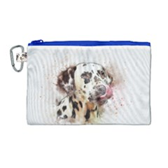 Dog Portrait Pet Art Abstract Canvas Cosmetic Bag (large) by Celenk