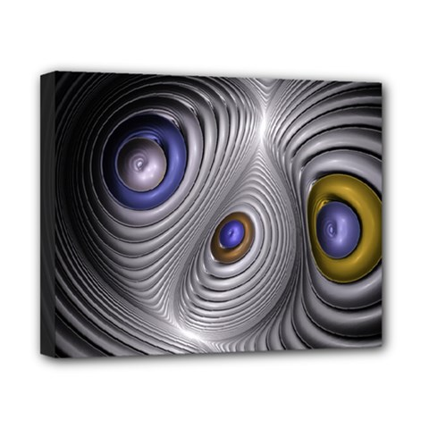 Fractal Silver Warp Pattern Canvas 10  X 8  by Celenk
