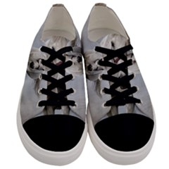 Horse Mammal White Horse Animal Men s Low Top Canvas Sneakers