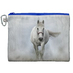Horse Mammal White Horse Animal Canvas Cosmetic Bag (xxl) by Celenk