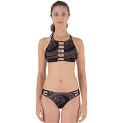 Fractal Stripes Abstract Pattern Perfectly Cut Out Bikini Set