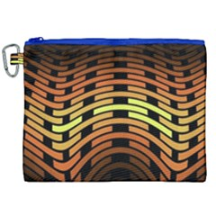 Fractal Orange Texture Waves Canvas Cosmetic Bag (xxl)