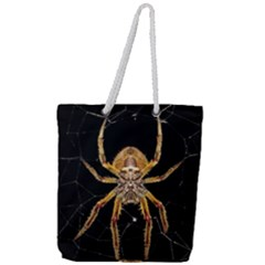 Nsect Macro Spider Colombia Full Print Rope Handle Tote (large)