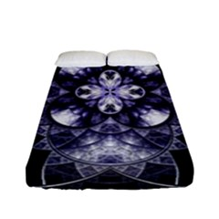 Fractal Blue Denim Stained Glass Fitted Sheet (full/ Double Size)
