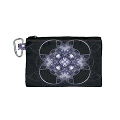 Fractal Blue Denim Stained Glass Canvas Cosmetic Bag (small) by Celenk