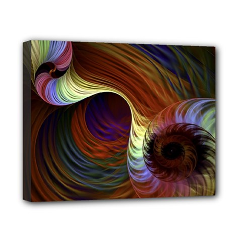 Fractal Colorful Rainbow Flowing Canvas 10  X 8  by Celenk