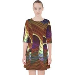 Fractal Colorful Rainbow Flowing Pocket Dress by Celenk