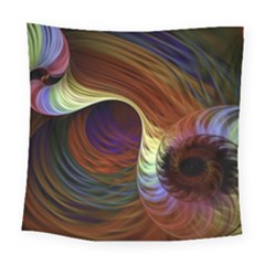 Fractal Colorful Rainbow Flowing Square Tapestry (large) by Celenk