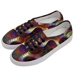 Fractal Colorful Rainbow Flowing Women s Classic Low Top Sneakers by Celenk