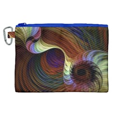 Fractal Colorful Rainbow Flowing Canvas Cosmetic Bag (xl) by Celenk