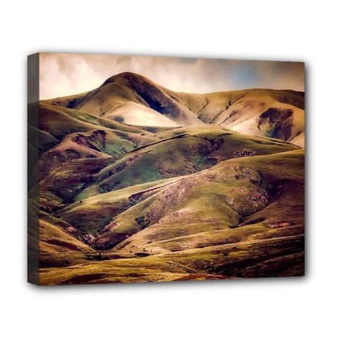 Iceland Mountains Sky Clouds Deluxe Canvas 20  X 16