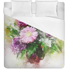 Flowers Roses Bouquet Art Nature Duvet Cover (king Size)