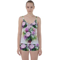 Flowers Roses Bouquet Art Nature Tie Front Two Piece Tankini