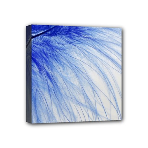 Spring Blue Colored Mini Canvas 4  X 4  by Celenk