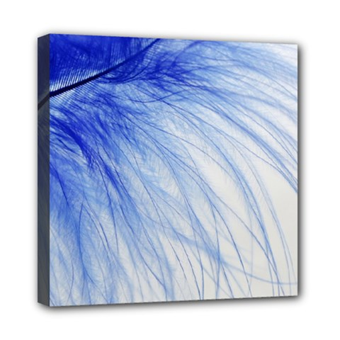 Spring Blue Colored Mini Canvas 8  X 8  by Celenk