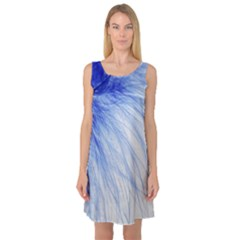 Spring Blue Colored Sleeveless Satin Nightdress