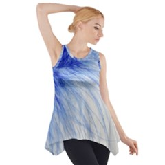Spring Blue Colored Side Drop Tank Tunic