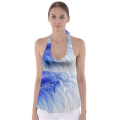 Spring Blue Colored Babydoll Tankini Top