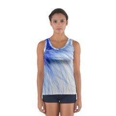 Spring Blue Colored Sport Tank Top