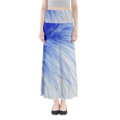 Spring Blue Colored Full Length Maxi Skirt