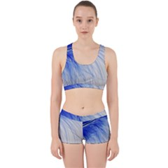 Spring Blue Colored Work It Out Sports Bra Set by Celenk