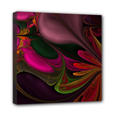 Fractal Abstract Colorful Floral Mini Canvas 8  X 8  by Celenk