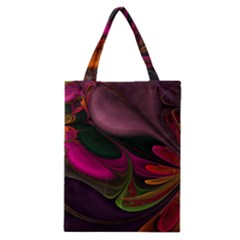 Fractal Abstract Colorful Floral Classic Tote Bag