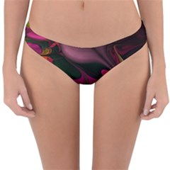 Fractal Abstract Colorful Floral Reversible Hipster Bikini Bottoms