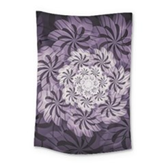 Fractal Floral Striped Lavender Small Tapestry