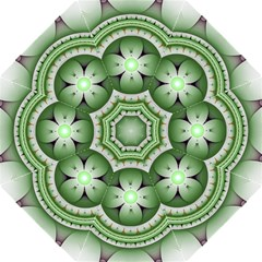 Fractal Mandala Green Purple Golf Umbrellas