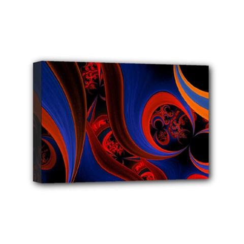 Fractal Abstract Pattern Circles Mini Canvas 6  X 4  by Celenk