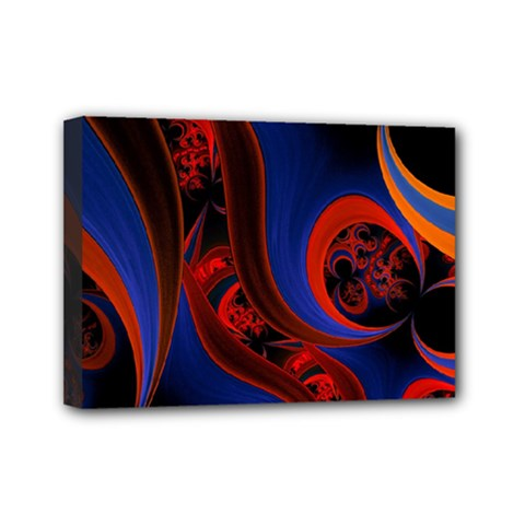Fractal Abstract Pattern Circles Mini Canvas 7  X 5  by Celenk