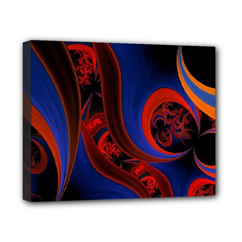 Fractal Abstract Pattern Circles Canvas 10  X 8  by Celenk