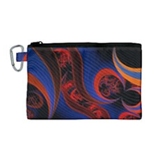 Fractal Abstract Pattern Circles Canvas Cosmetic Bag (medium) by Celenk