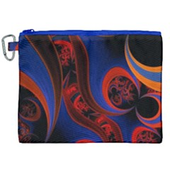 Fractal Abstract Pattern Circles Canvas Cosmetic Bag (xxl) by Celenk
