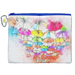 Umbrella Art Abstract Watercolor Canvas Cosmetic Bag (xxl) by Celenk