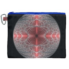 Fractal Diamond Circle Pattern Canvas Cosmetic Bag (xxl) by Celenk