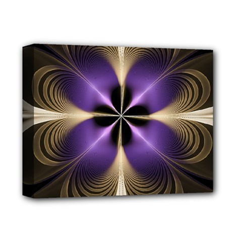 Fractal Glow Flowing Fantasy Deluxe Canvas 14  X 11  by Celenk